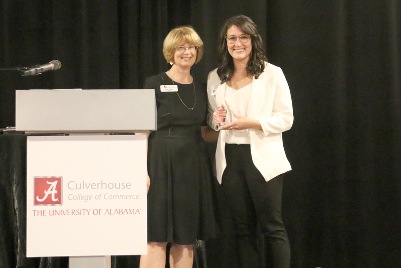 Dean Palan and James D. Nabors Instructional Excellence Award for NTRC Faculty recipient, Jenna Stiffler.