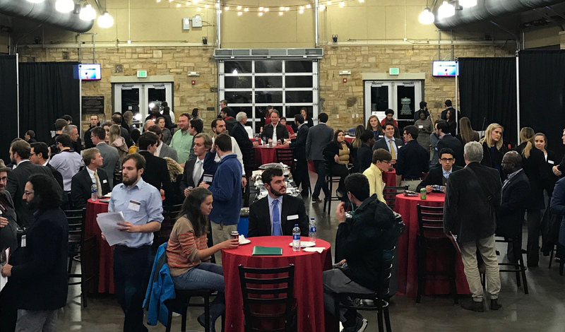 The Tuscaloosa River Market full of entrepreneurs getting ready to pitch their business ideas.