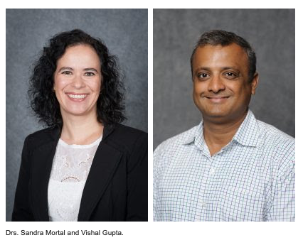 Drs. Sandra Mortal and Vishal Gupta Headshots