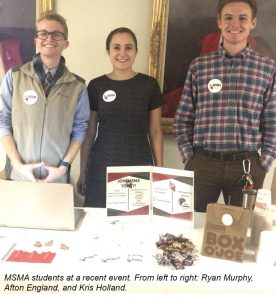 MSMA students at a recent event