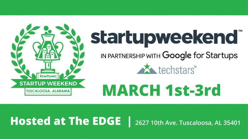 Startup Weekend Tuscaloosa Returns March 1-3
