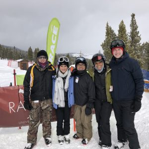 MBA case team on the ski slopes.
