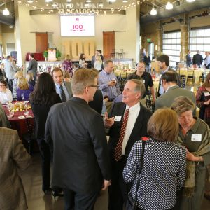 Culverhouse faculty and staff mingle at the 2019 Faculty and Staff Awards