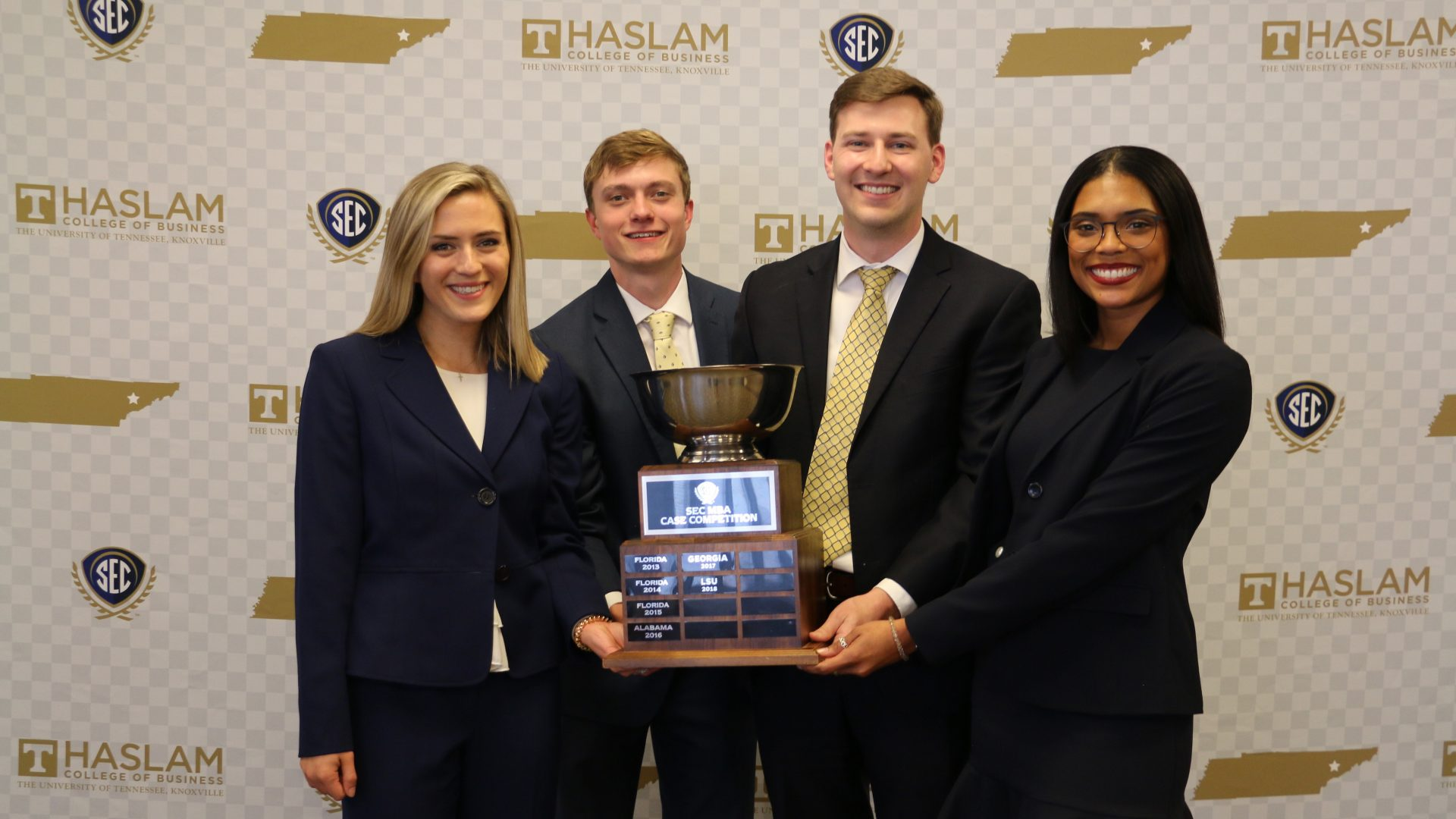 The Manderson MBA Case with the trophy.
