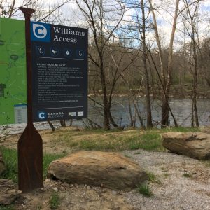 Access point for the Cahaba River.