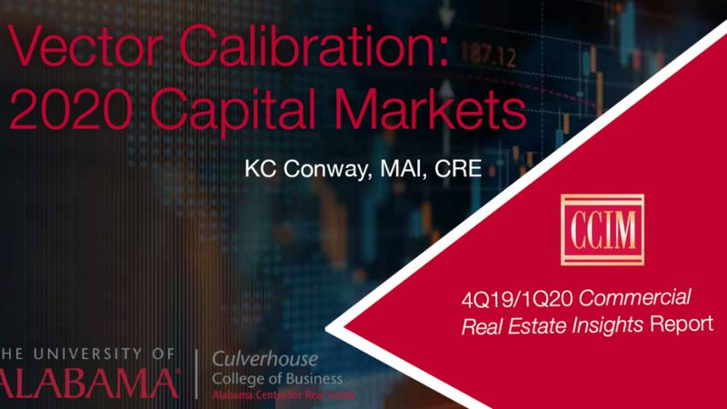 ACRE/CCIM: Recalibration of Commercial Real Estate Investment Strategies Needed in 2020