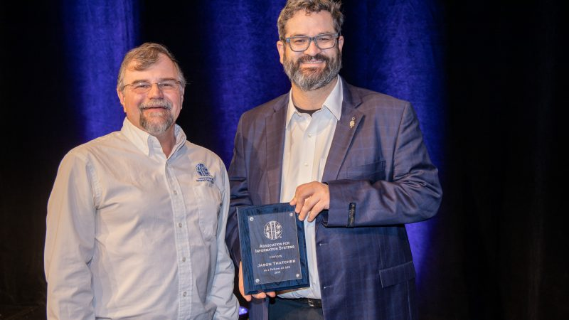 Jason Thatcher Receives AIS Fellow Award