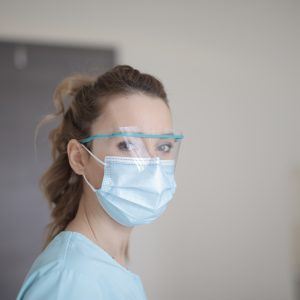 woman wearing facemask