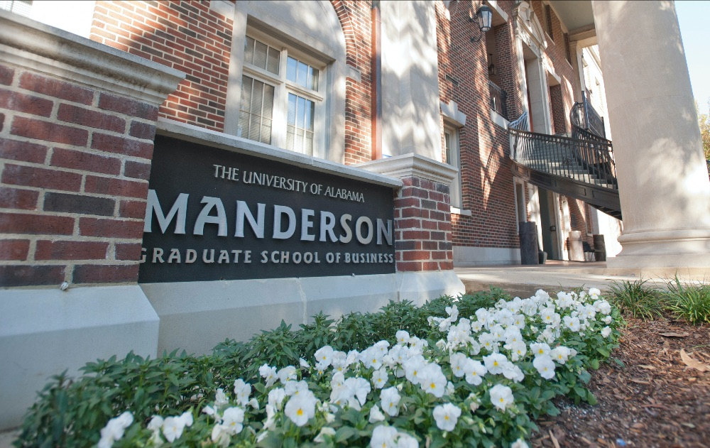 Manderson sign outside Bidgood Hall