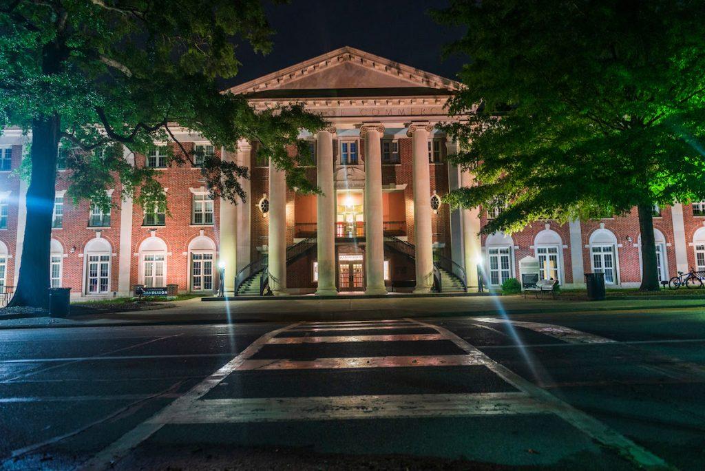 Bidgood Hall at night