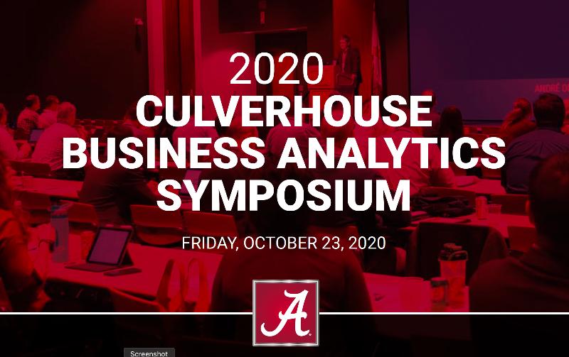 2020 Culverhouse Business Analytics Symposium