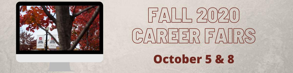 Fall 2020 Career Fairs