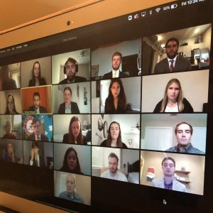 students presenting at the 2020 Virtual Speaker's Edge at MBA Launch