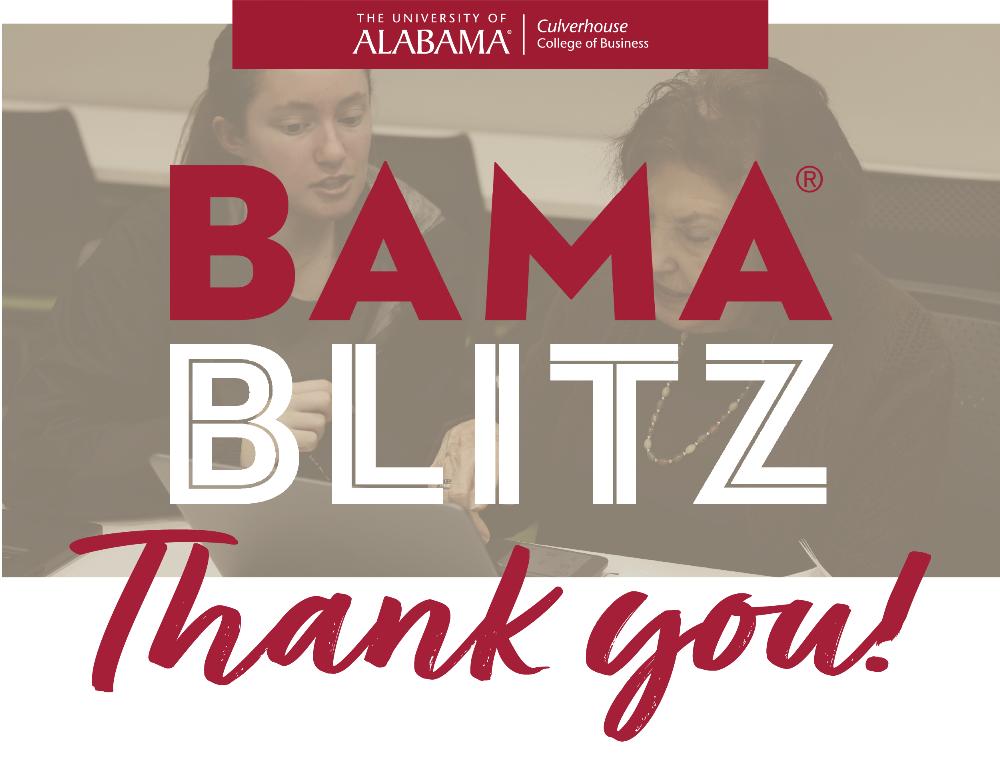 Bama Blitz Thank You