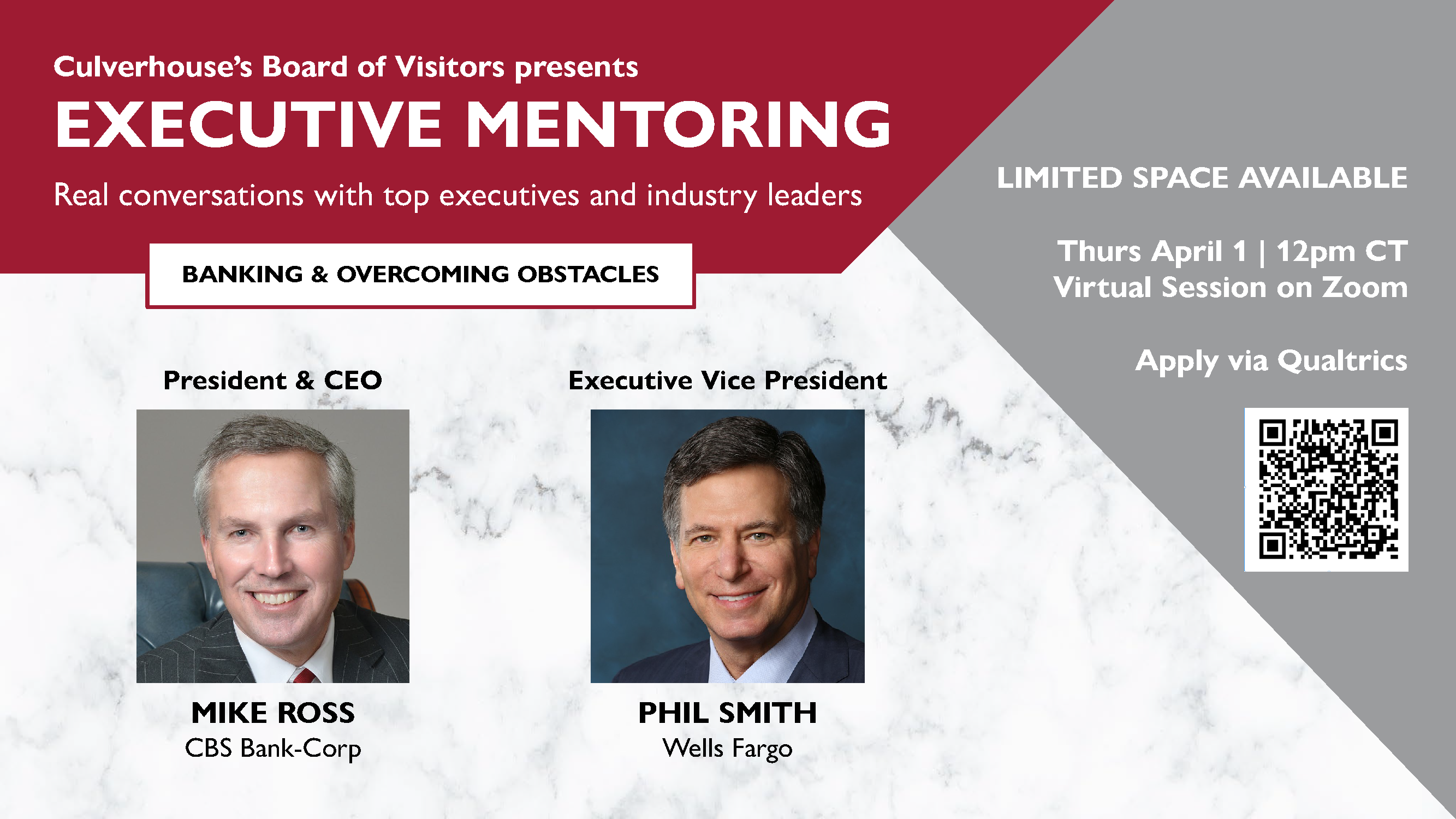 Executive Mentoring from the Culverhouse Board of Visitors members Mike Ross and Phil Smith