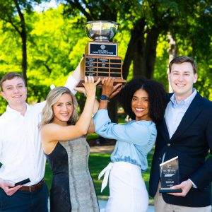 2019 Case Team with their SEC Case Competition Trophy