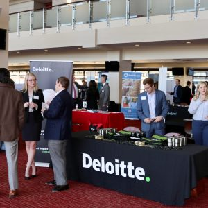 students attending meet the firms